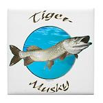 Tiger musky Tile Coaster