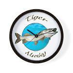 Tiger musky Wall Clock