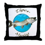 Tiger musky Throw Pillow