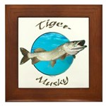 Tiger musky Framed Tile