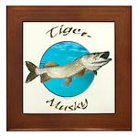 Tiger musky Framed Tile