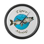 Tiger musky Large Wall Clock