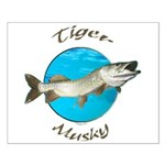 Tiger musky Small Poster