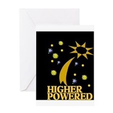 HIGHER POWERED Greeting Card