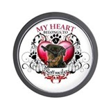 My Heart Belongs to a Rottweiler Wall Clock