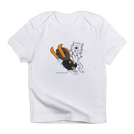Snowmobile Cat Orange Infant T-Shirt