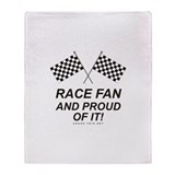 Checker Flag Proud Race Throw Blanket