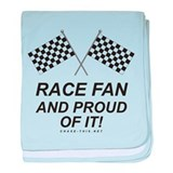 Checker Flag Proud Race baby blanket