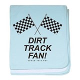 Checker Flag Dirt baby blanket