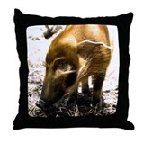 Pig Profile 1966 Throw Pillow