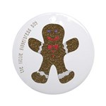 GingerBreadChristmasOrnament Ornament (Round)