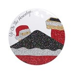 UpOnTheHouseTopChristmasOrnament Ornament (Round)