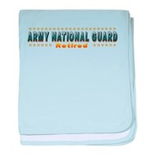 Army Guard Retired baby blanket