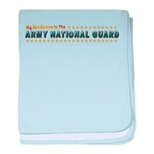 My Army Guard Girl baby blanket