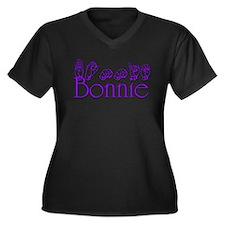 Bonnie Women's Plus Size V-Neck Dark T-Shirt