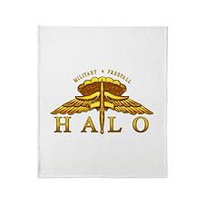 Golden Halo Badge Throw Blanket