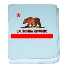 California Bear baby blanket