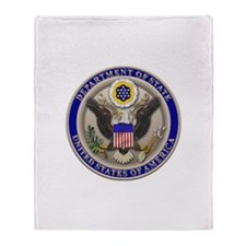 State Dept. Seal Throw Blanket