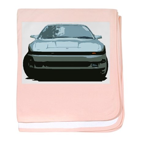 Sky Blue MKIII Toyota Supra baby blanket