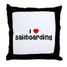I * Sailboarding Throw Pillow