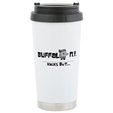 Buffalo, NY Kicks But Ceramic Travel Mug