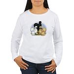 Silkie Chicken Trio Women's Long Sleeve T-Shirt