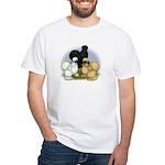 Silkie Chicken Trio White T-Shirt