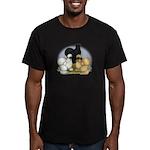 Silkie Chicken Trio Men's Fitted T-Shirt (dark)