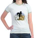 Silkie Chicken Trio Jr. Ringer T-Shirt