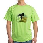 Silkie Chicken Trio Green T-Shirt