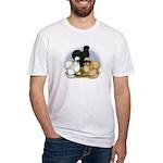 Silkie Chicken Trio Fitted T-Shirt