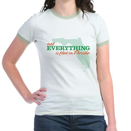 not everything is flat in flo Jr. Ringer T-Shirt