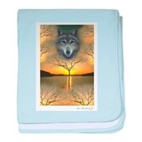 Wolf~Shaman's Dream ~ baby blanket