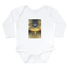 Wolf~Shaman's Dream~Long Sleeve Infant Bodysuit