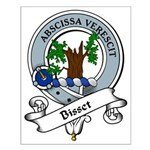 Bisset Clan Badge Small Poster