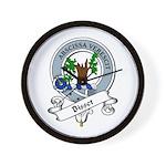 Bisset Clan Badge Wall Clock