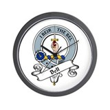 Bell Clan Badge Wall Clock