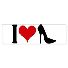 I love High Heels Bumper Sticker