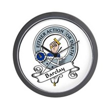 Barclay Clan Badge Wall Clock