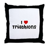 I * Triathlons Throw Pillow