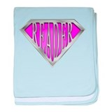SuperReader(Pink) baby blanket