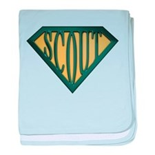 SuperScout(Tan) baby blanket