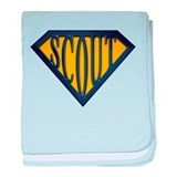 SuperScout(Gold/Blue) baby blanket