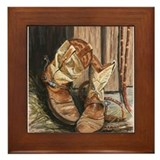 Western Art by Dawn Secord Framed Tile