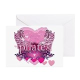 Peace Love Pilates by Svelte. Greeting Cards (Pk o