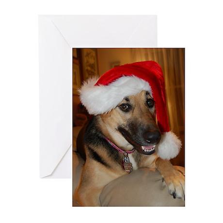 Christmas German Shepherd Greeting Cards (Pk of 20