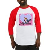 Cute I heart jelly beans Baseball Jersey