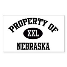 Property of Nebraska Rectangle Decal