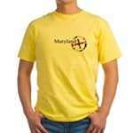Maryland Geocaching Logo Yellow T-Shirt
