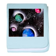 Outer Space Painting baby blanket